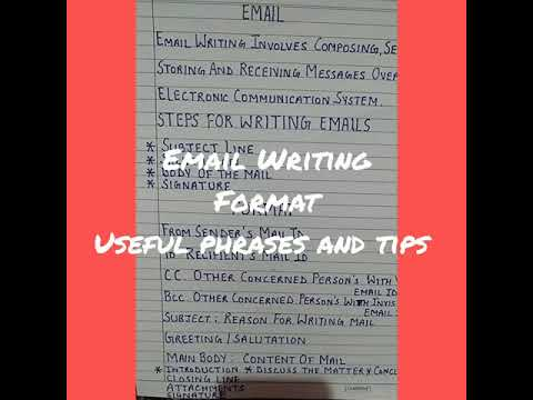 Email Writing#  Useful Phrases # Tips# Format # Easy to Write.