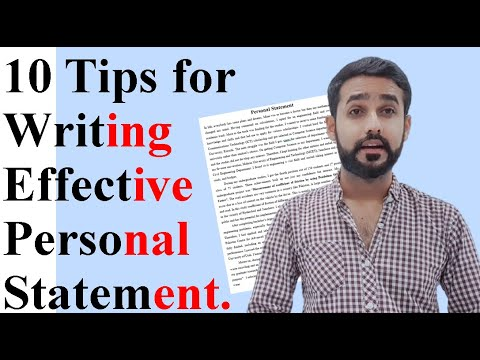 10 Tips to write your Best Personal Statement for Scholarships.