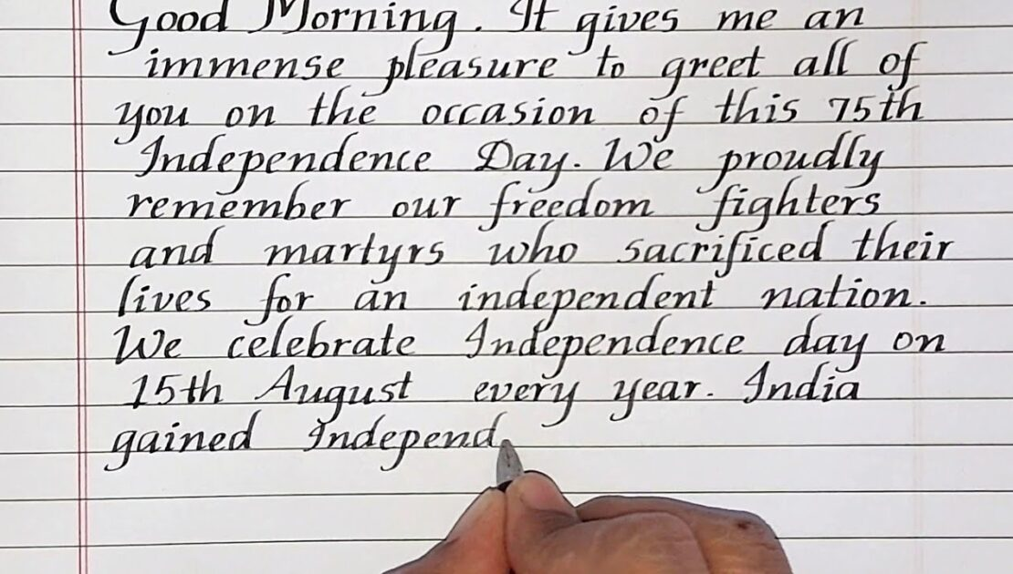 Independence Day Speech in English//Welcome speech//Neat and clean handwriting