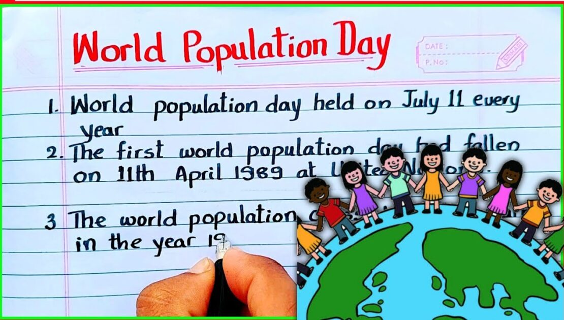 World population Day essay writing in English   10 lines on World population Day