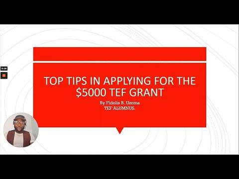 TOP TIPS: How to Win Tony Elumelu Entrepreneurship Program $5,000 (2021)