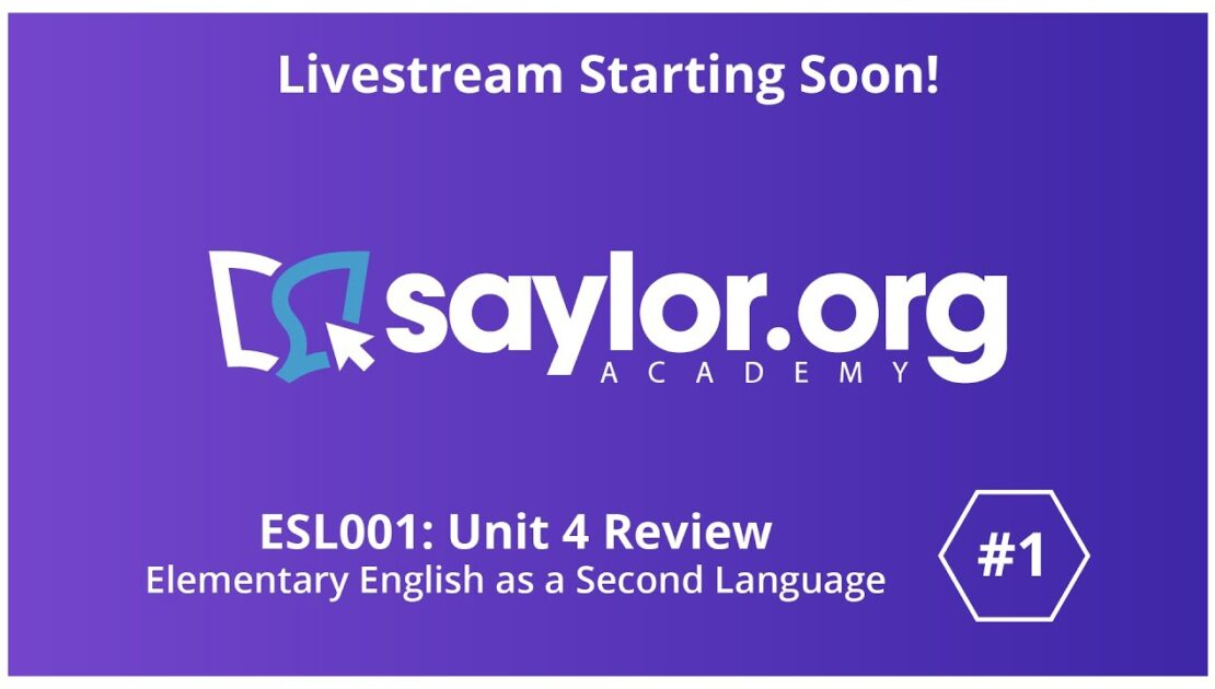 English as a Second Language Unit 4 Review (pt.1)