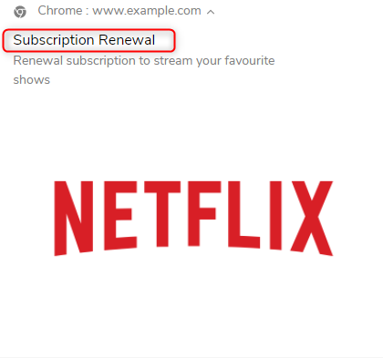 Subscription push notification