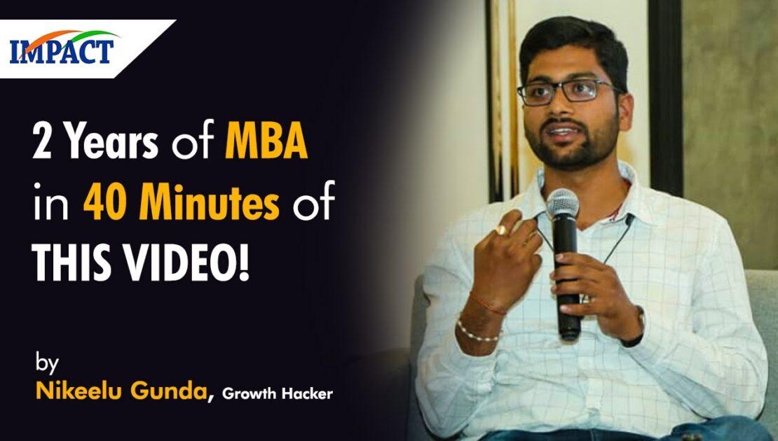 MBA Marketing for Any Business || Nikeelu Gunda || Telugu || Digital Connect || IMPACT | 2019