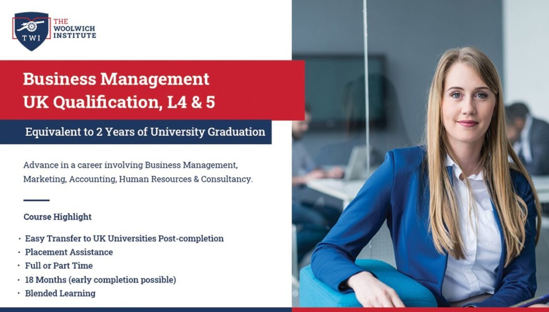 Business Management UK Qualification- L4 & L5 | Equivalent to 1st and 2nd Year of University