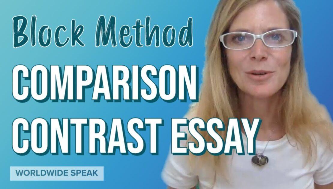Comparison Contrast Essay | Block Method | English Writing Skills 2020
